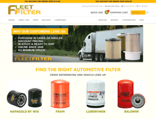 fleetfilter.com screenshot