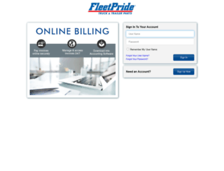 fleetpride.billtrust.com screenshot