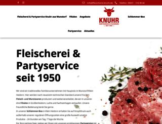 fleischerei-knuhr.de screenshot