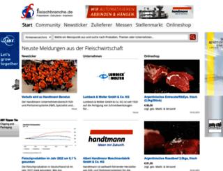 fleischportal.de screenshot
