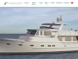 flemingyachts.com screenshot