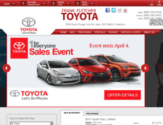 fletcher-toyota.calls.net screenshot