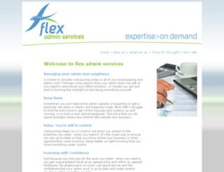 flexadminservices.com.au screenshot