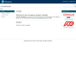 flexiblescoring-accuplacer.pearson.com screenshot