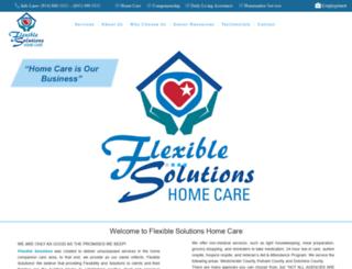 flexiblesolutionshomecare.com screenshot