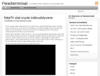 flexiterminal.dk screenshot