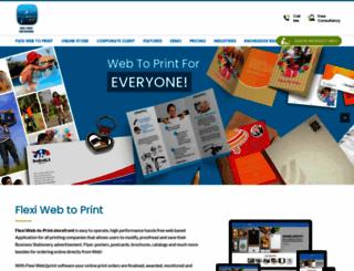 flexiweb2print.com screenshot