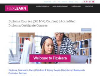 flexlearn.co.uk screenshot