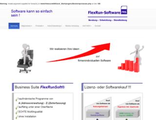 flexrun-software.de screenshot