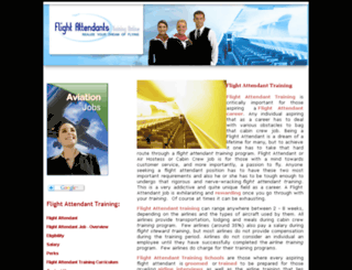 flightattendantcabincrewtraining.com screenshot