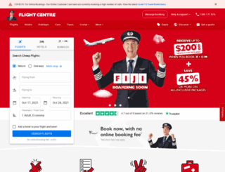 flightcenter.com.au screenshot