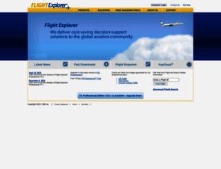 flightexplorer.com screenshot