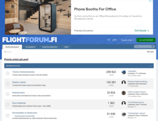 flightforum.fi screenshot