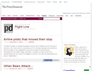flightline.blogs.pressdemocrat.com screenshot