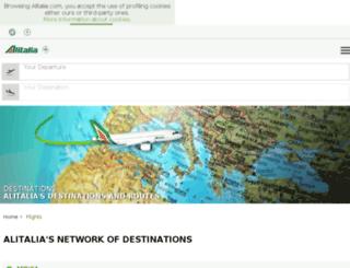flights.alitalia.com screenshot