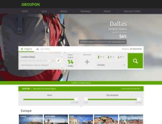flights.groupon.co.uk screenshot