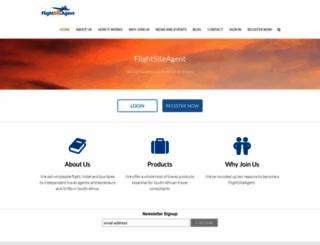 flightsiteagent.co.za screenshot
