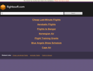 flightssoft.com screenshot
