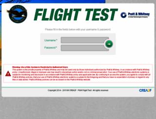 flighttestpw1100g.com screenshot