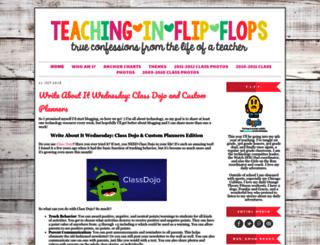 flipflopteacher.blogspot.com screenshot