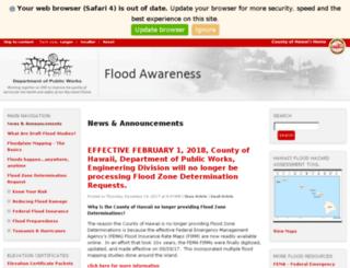 flood.hawaiicounty.gov screenshot