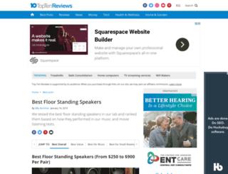 floor-standing-speakers.toptenreviews.com screenshot