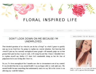 floralinspiredlife.com screenshot