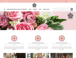 floresfrescas.com screenshot