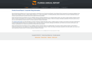florida-annual-report.com screenshot