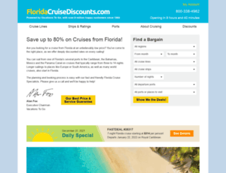 floridacruisediscounts.com screenshot
