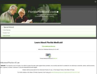 floridamedicaid.com screenshot