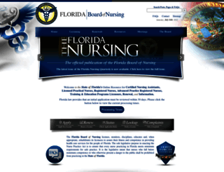 floridasnursing.gov screenshot