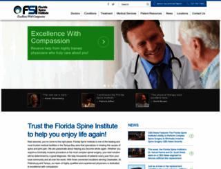 floridaspineinstitute.com screenshot