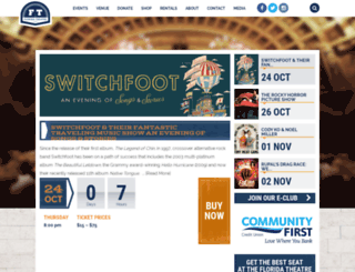 floridatheatre.com screenshot