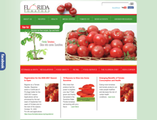 floridatomatoes.org screenshot