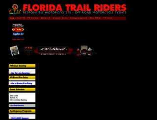 floridatrailriders.org screenshot