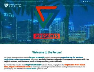 floridaventureforum.org screenshot