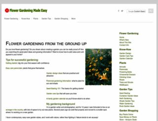 flower-gardening-made-easy.com screenshot