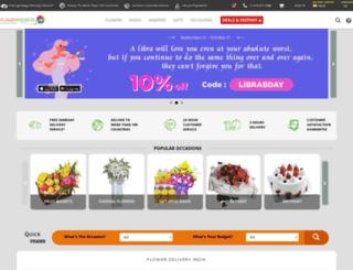floweradvisor.co.in screenshot