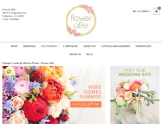flowerallie.com screenshot