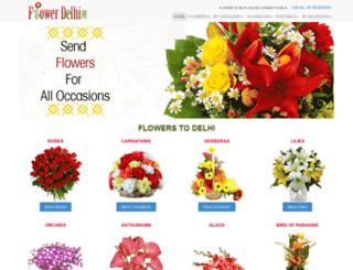 flowerdelhi.com screenshot