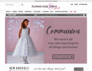flowergirldressforless.com screenshot