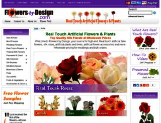 flowers-by-design.com screenshot