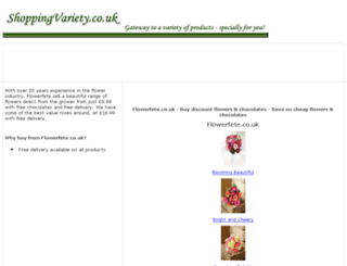 flowers-chocolates.shoppingvariety.co.uk screenshot