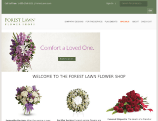 flowershop.forestlawn.com screenshot
