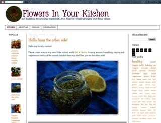 flowersinyourkitchen.blogspot.ch screenshot