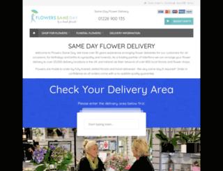 flowerssameday.co.uk screenshot