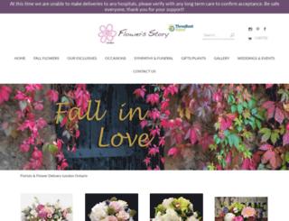 flowersstory.ca screenshot