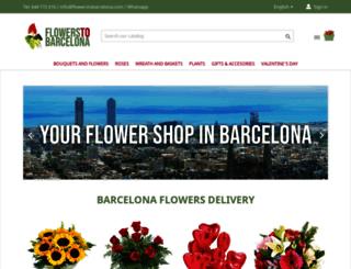 flowerstobarcelona.com screenshot