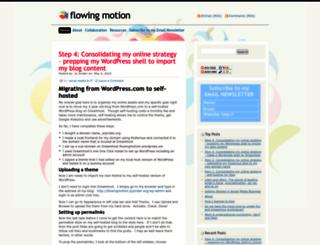 flowingmotion.wordpress.com screenshot